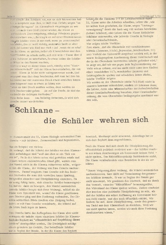 Organ des KOB Göttingen, Nr. 7, 1974, Seite 6