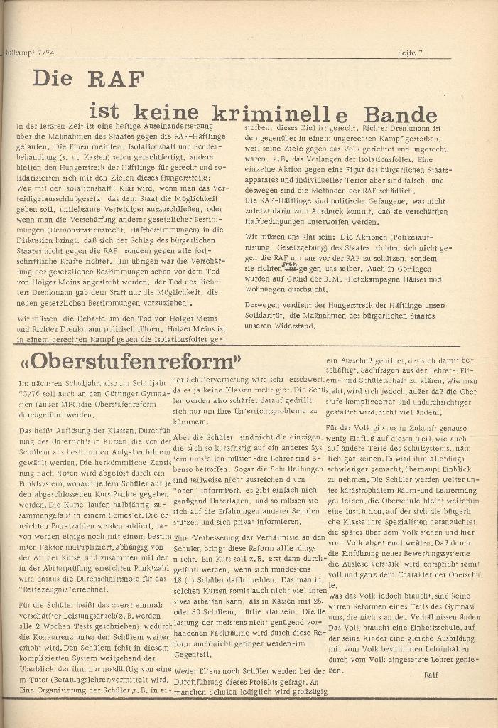 Organ des KOB Göttingen, Nr. 7, 1974, Seite 7