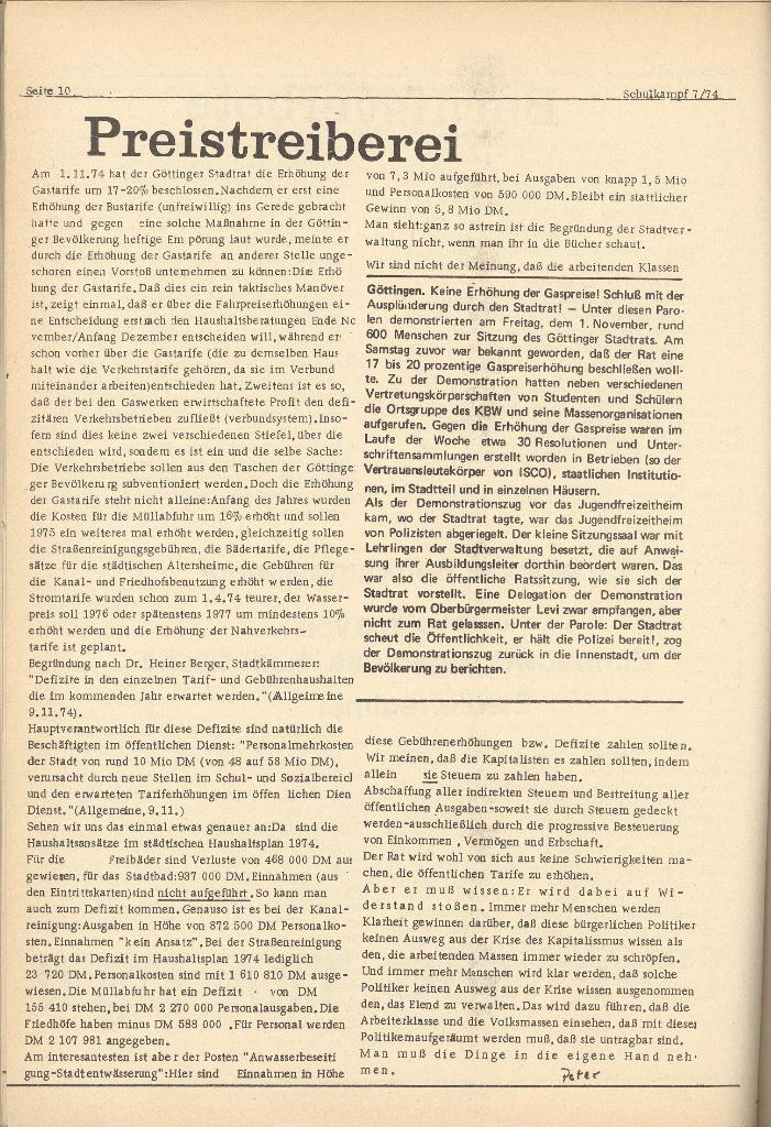 Organ des KOB Göttingen, Nr. 7, 1974, Seite 10
