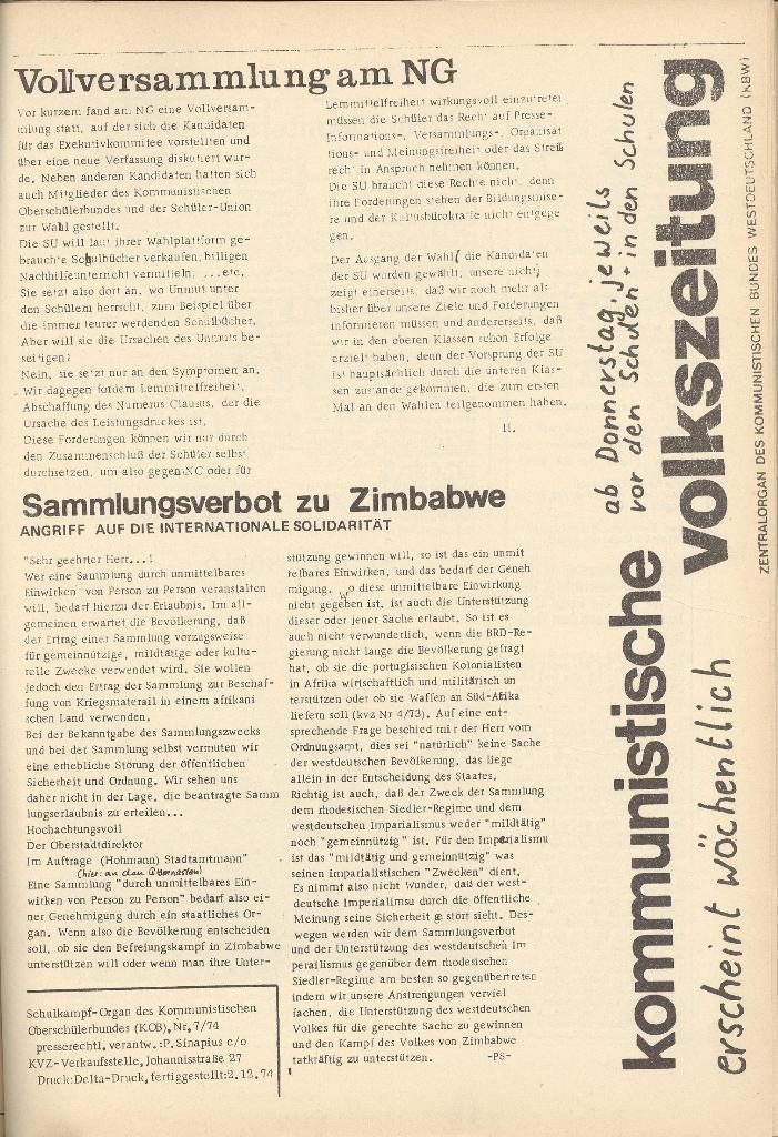 Organ des KOB Göttingen, Nr. 7, 1974, Seite 11
