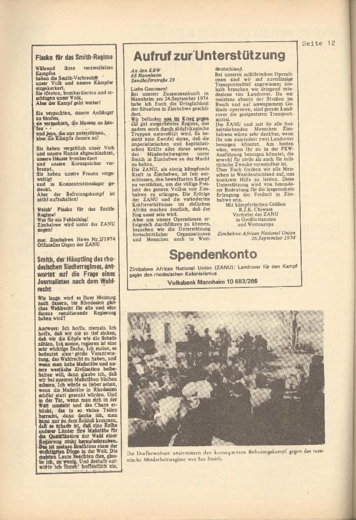 Organ des KOB Göttingen, Nr. 7, 1974, Seite 12