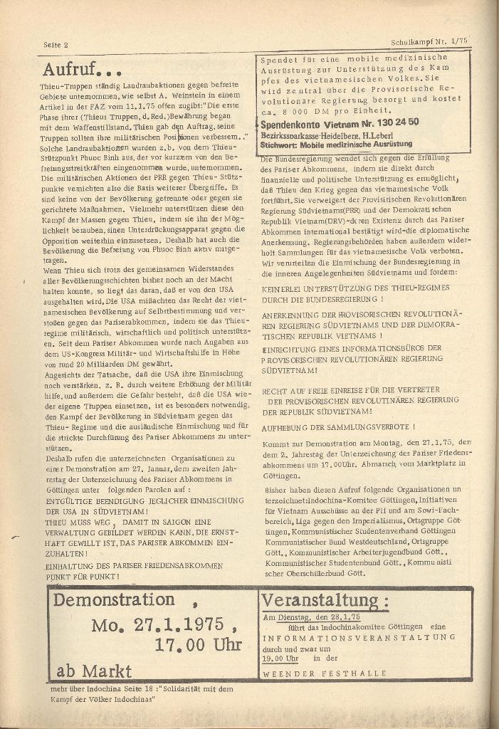 Organ des KOB Göttingen, Nr. 1, 1975, Seite 2