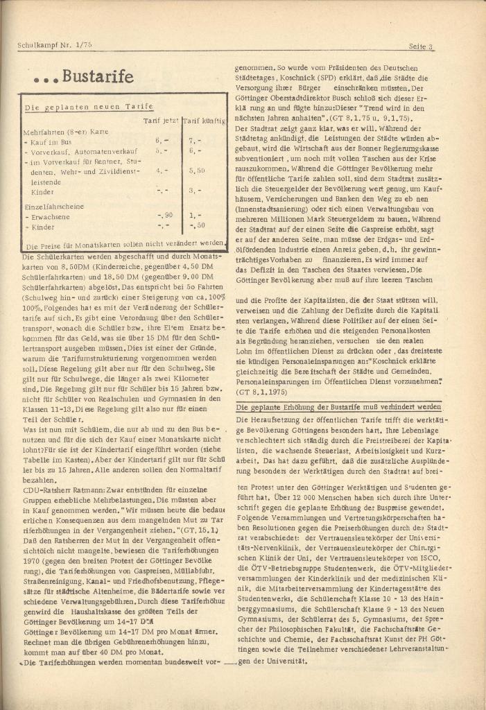 Organ des KOB Göttingen, Nr. 1, 1975, Seite 3