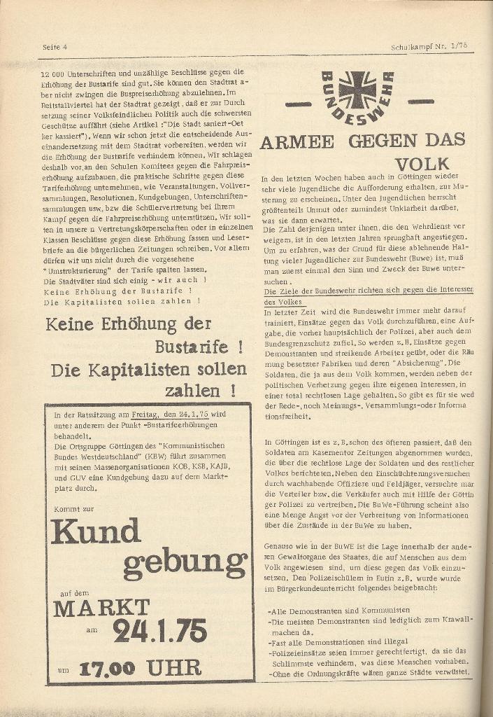 Organ des KOB Göttingen, Nr. 1, 1975, Seite 4