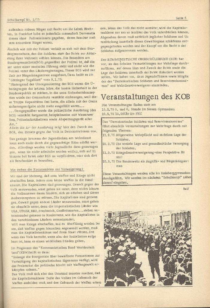 Organ des KOB Göttingen, Nr. 1, 1975, Seite 5