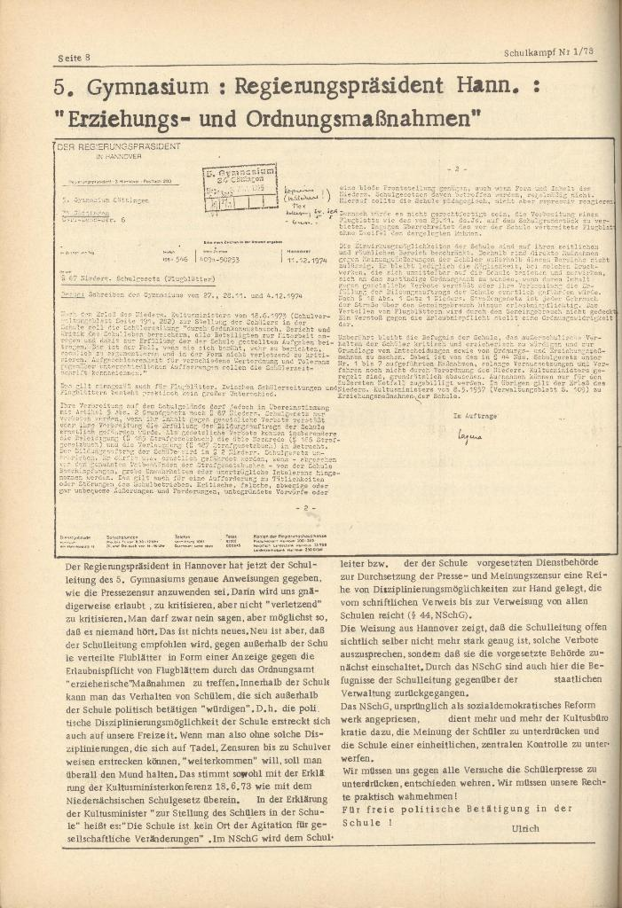Organ des KOB Göttingen, Nr. 1, 1975, Seite 8