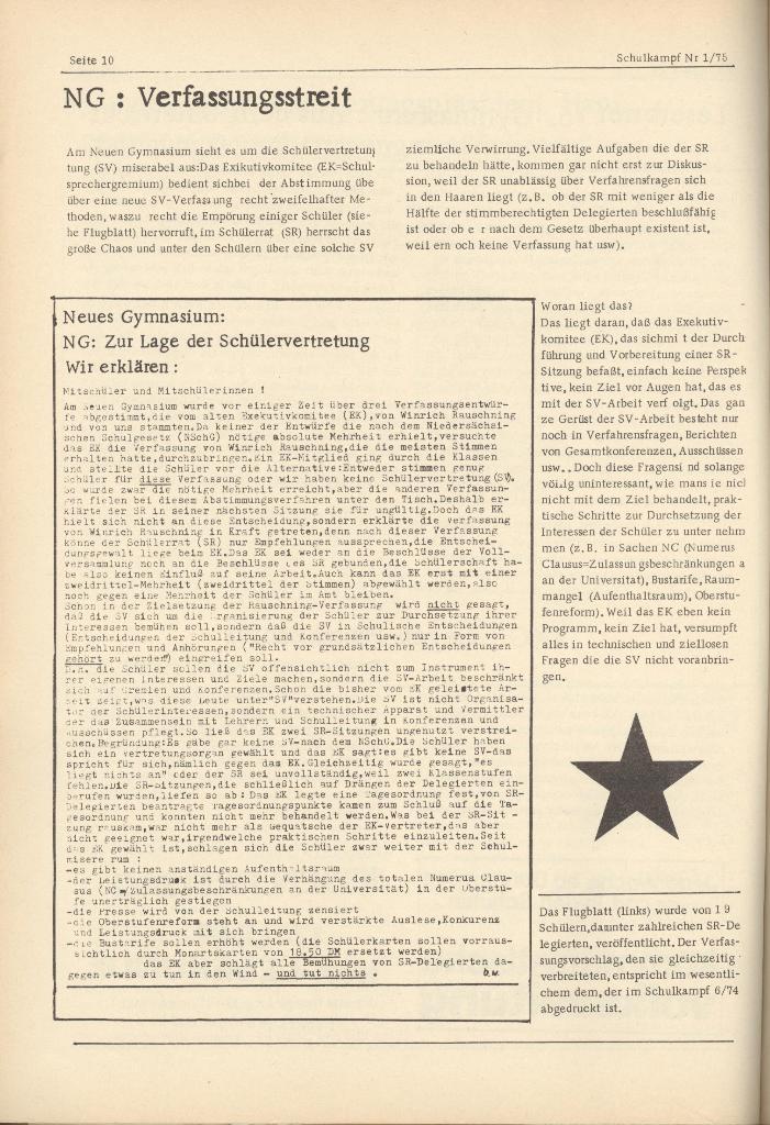 Organ des KOB Göttingen, Nr. 1, 1975, Seite 10