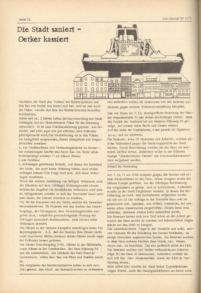 Organ des KOB Göttingen, Nr. 1, 1975, Seite 12