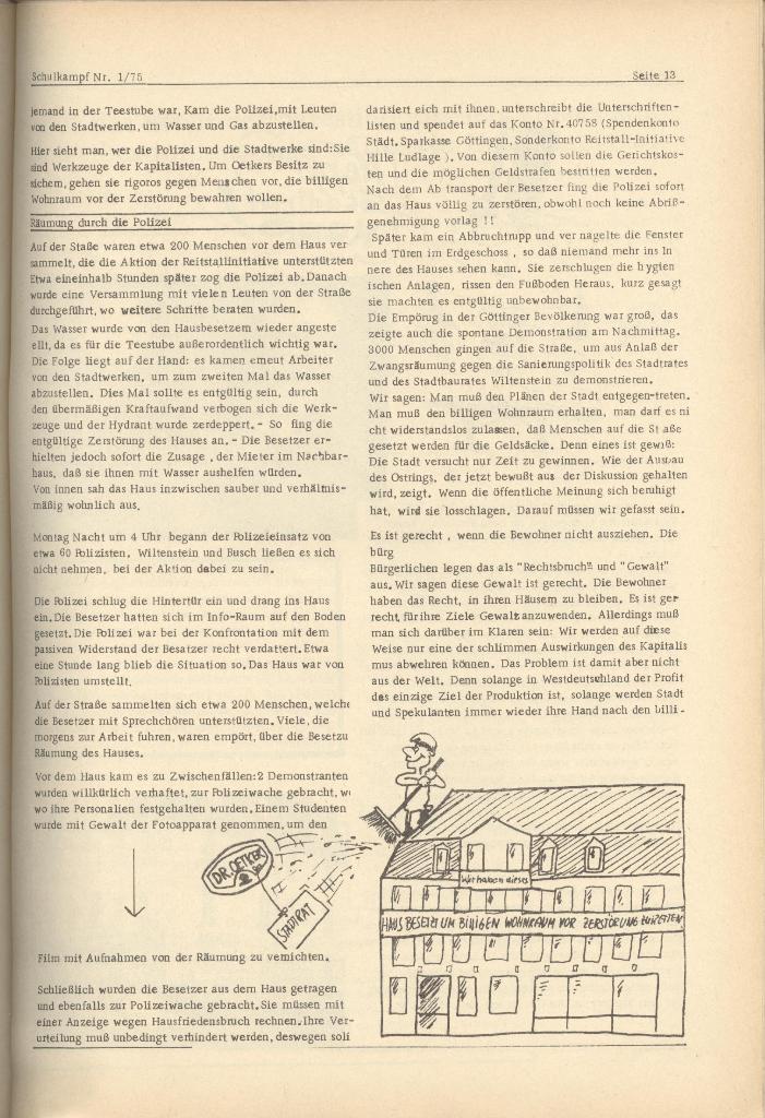 Organ des KOB Göttingen, Nr. 1, 1975, Seite 13