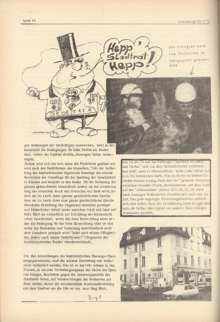 Organ des KOB Göttingen, Nr. 1, 1975, Seite 14
