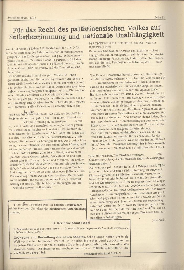 Organ des KOB Göttingen, Nr. 1, 1975, Seite 15