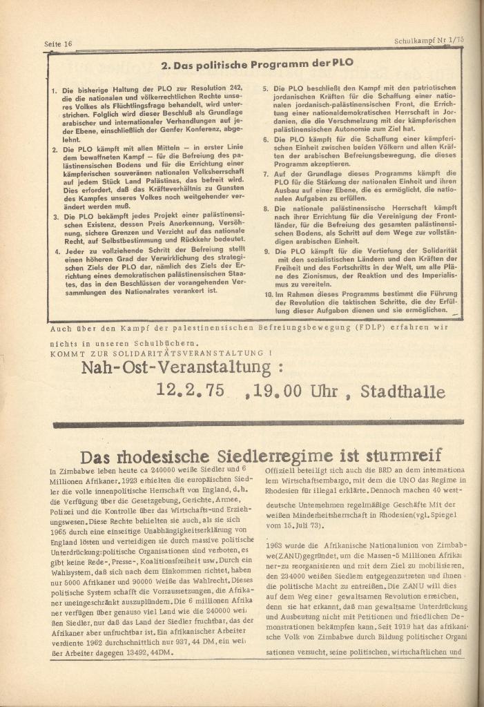 Organ des KOB Göttingen, Nr. 1, 1975, Seite 16