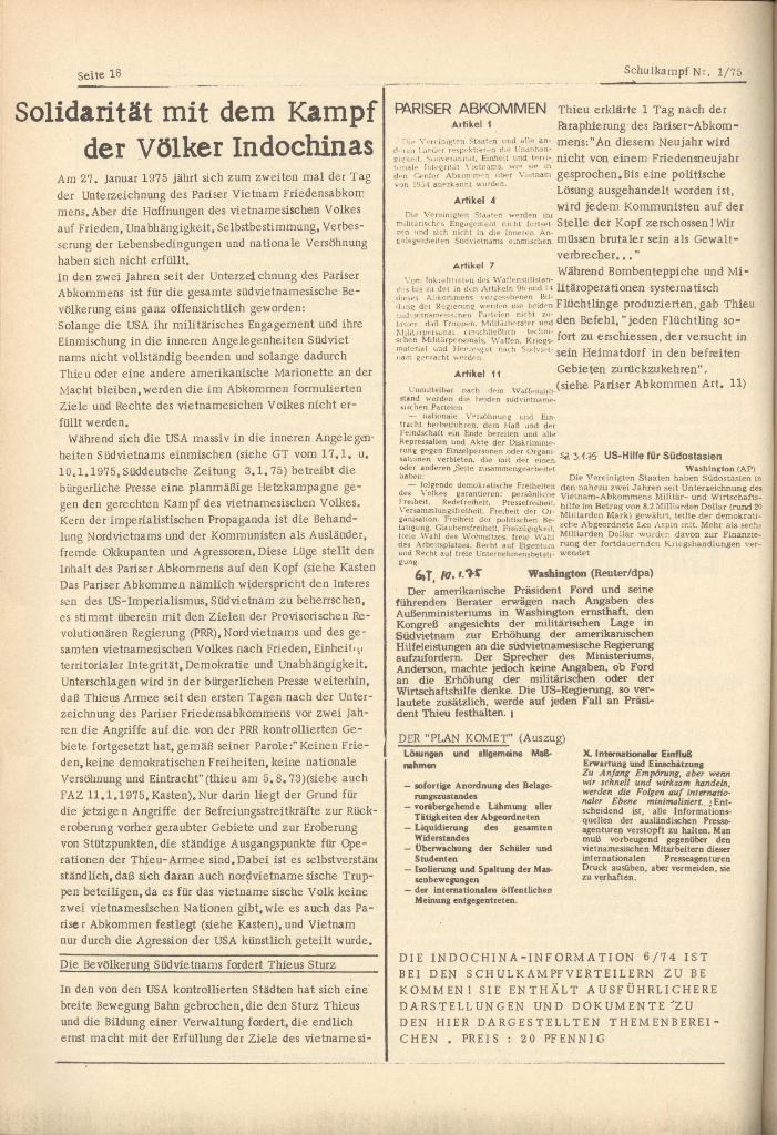 Organ des KOB Göttingen, Nr. 1, 1975, Seite 18
