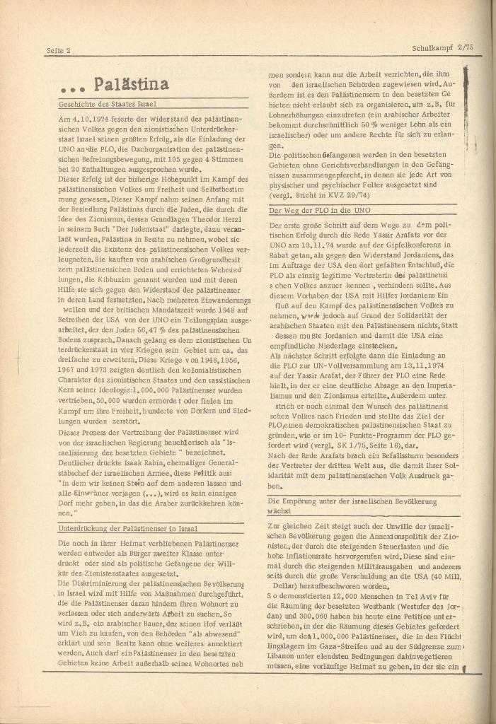 Organ des KOB Göttingen, Nr. 2, 1975, Seite 2