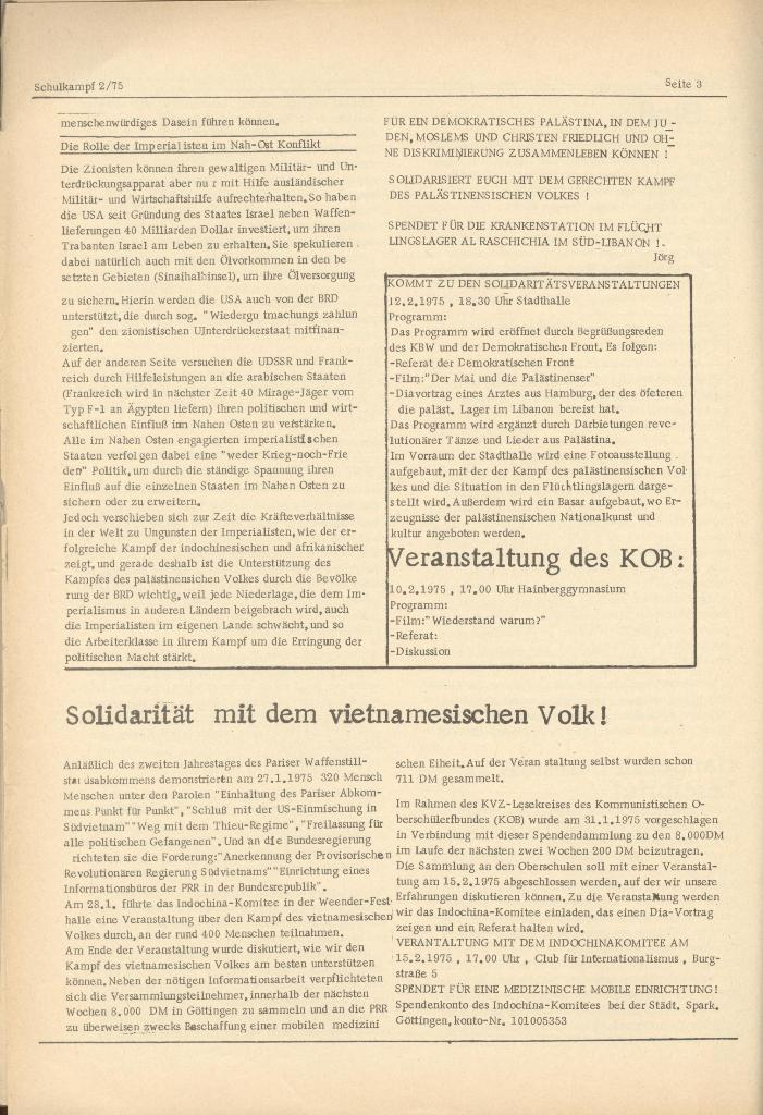 Organ des KOB Göttingen, Nr. 2, 1975, Seite 3