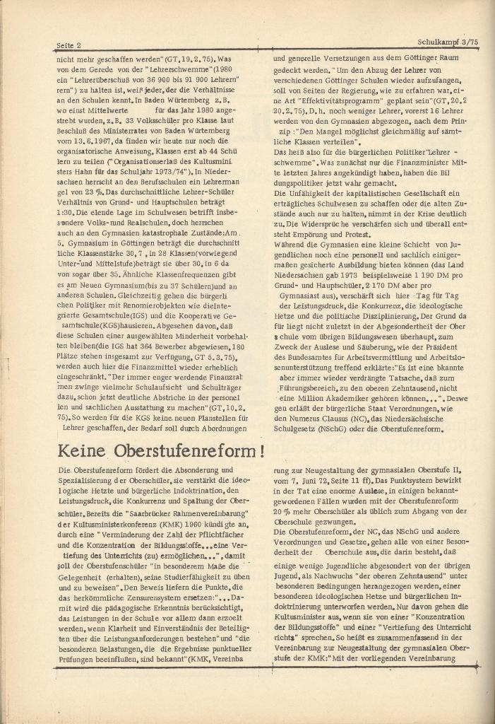 Organ des KOB Göttingen, Nr. 3, 1975, Seite 2