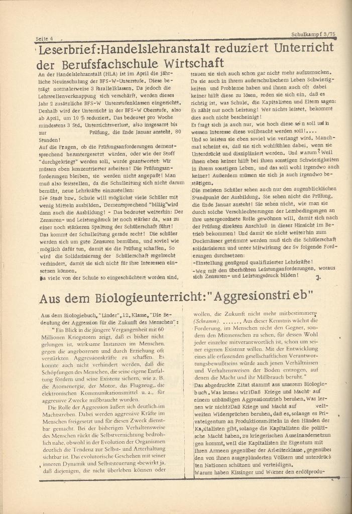 Organ des KOB Göttingen, Nr. 3, 1975, Seite 4