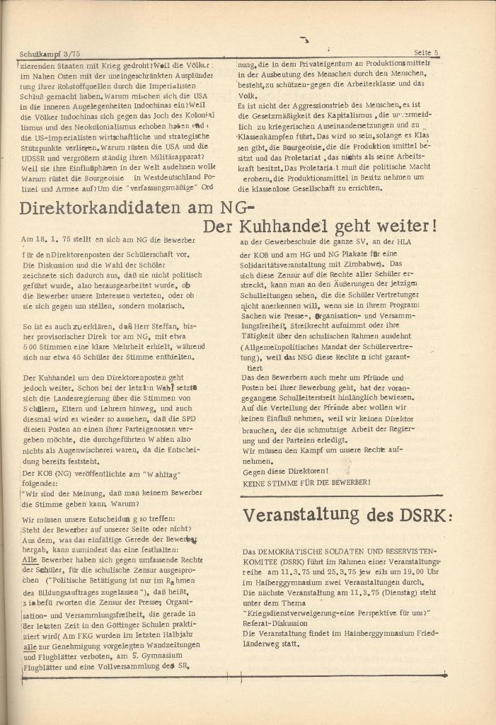 Organ des KOB Göttingen, Nr. 3, 1975, Seite 5