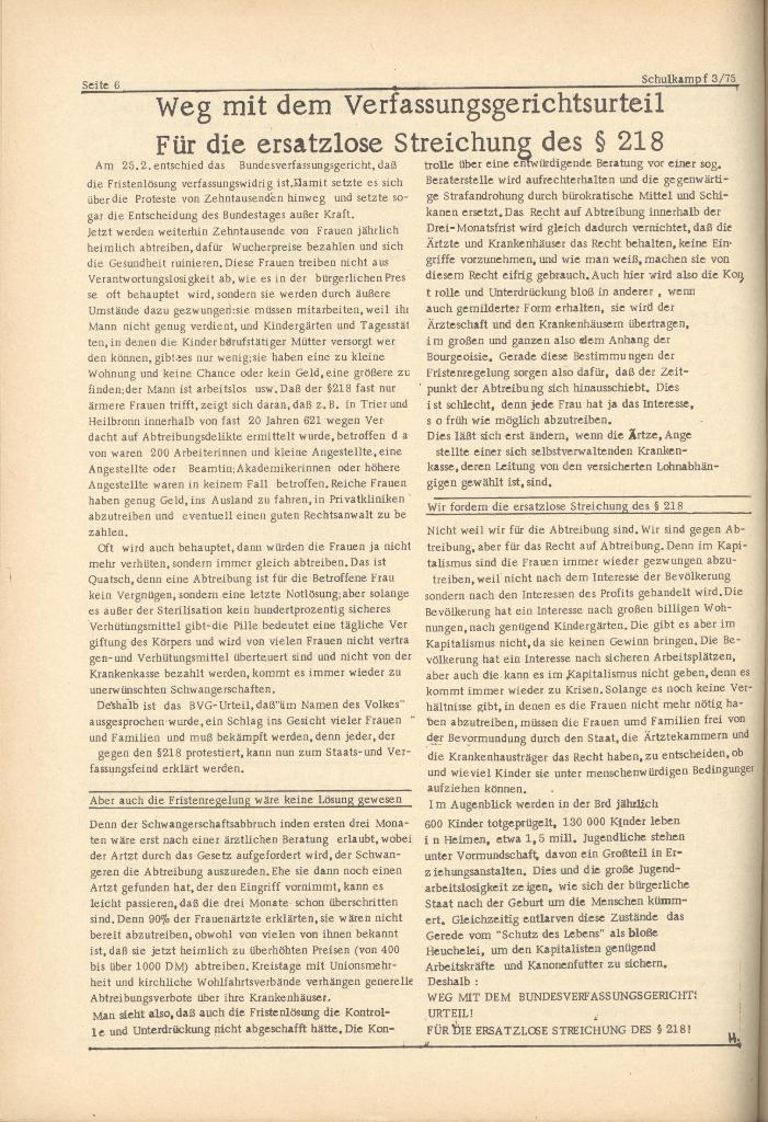 Organ des KOB Göttingen, Nr. 3, 1975, Seite 6