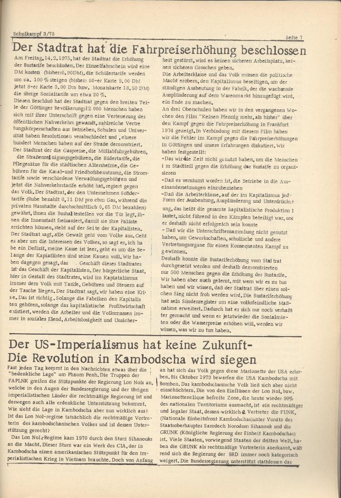 Organ des KOB Göttingen, Nr. 3, 1975, Seite 7