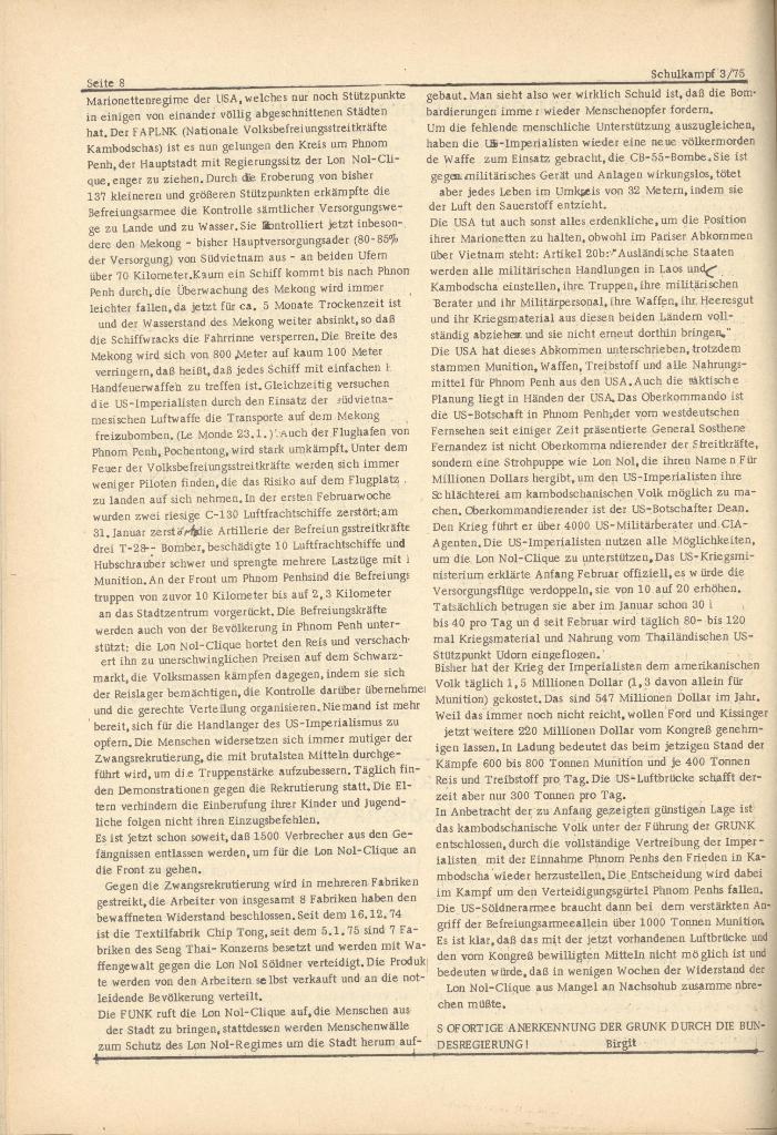 Organ des KOB Göttingen, Nr. 3, 1975, Seite 8