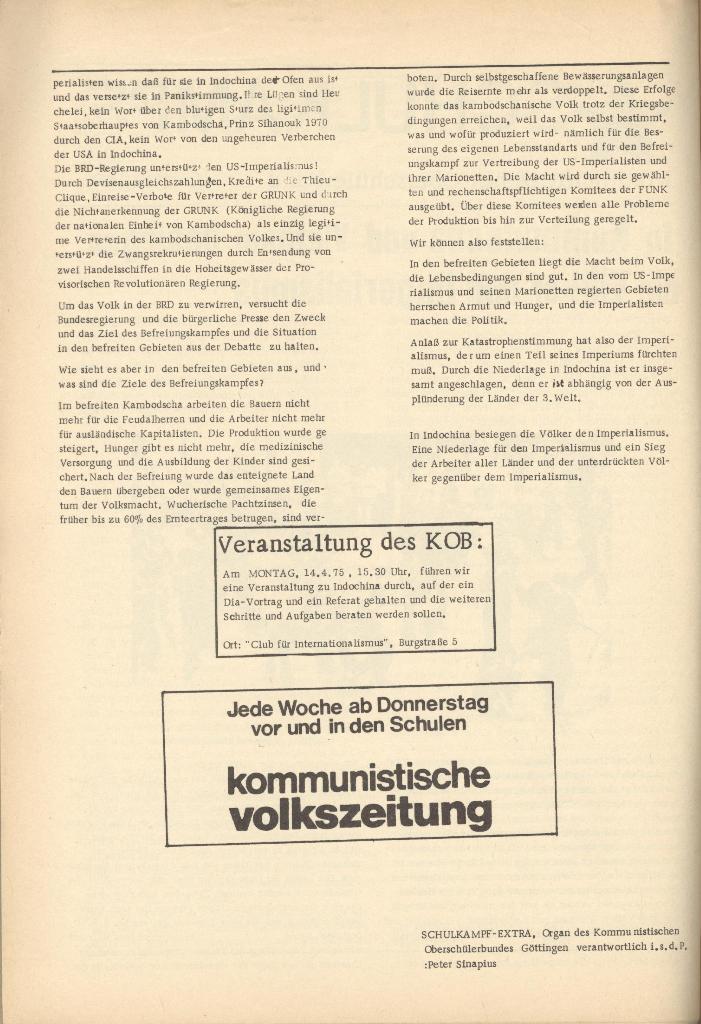 Organ des KOB Göttingen, Extra, Kambodscha und Vietnam, 1975, Seite 2