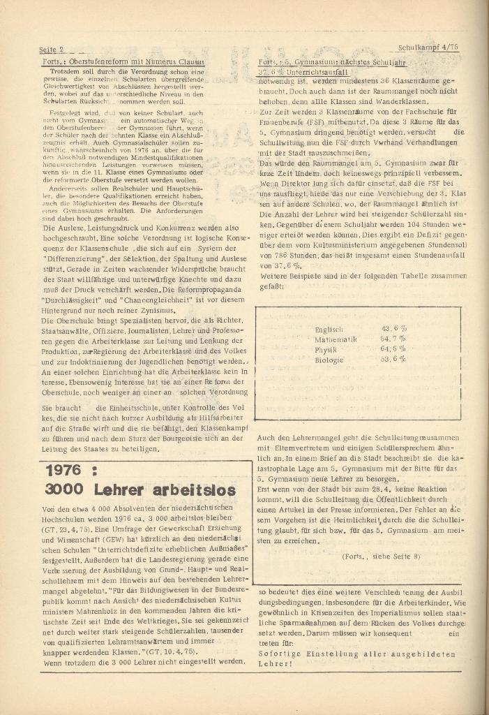 Organ des KOB Göttingen, Nr. 4, 1975, Seite 2