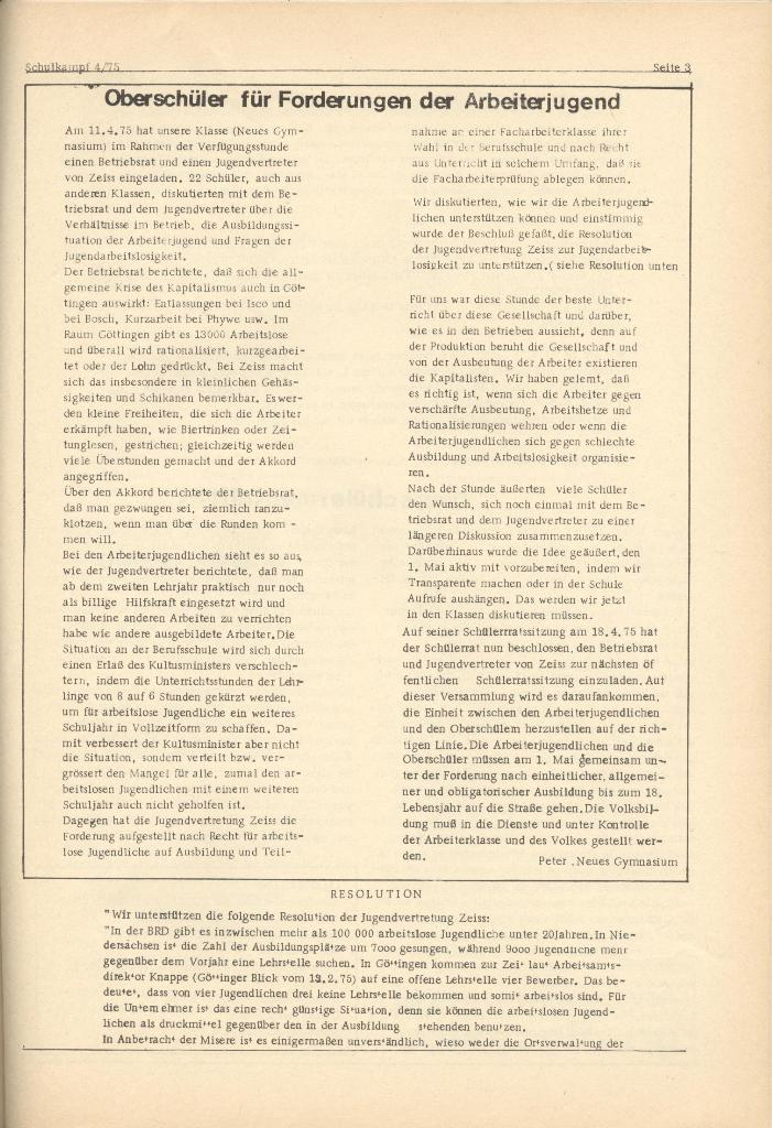 Organ des KOB Göttingen, Nr. 4, 1975, Seite 3
