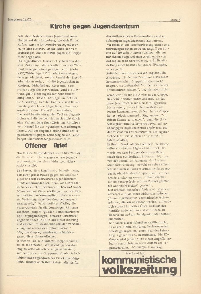 Organ des KOB Göttingen, Nr. 4, 1975, Seite 5