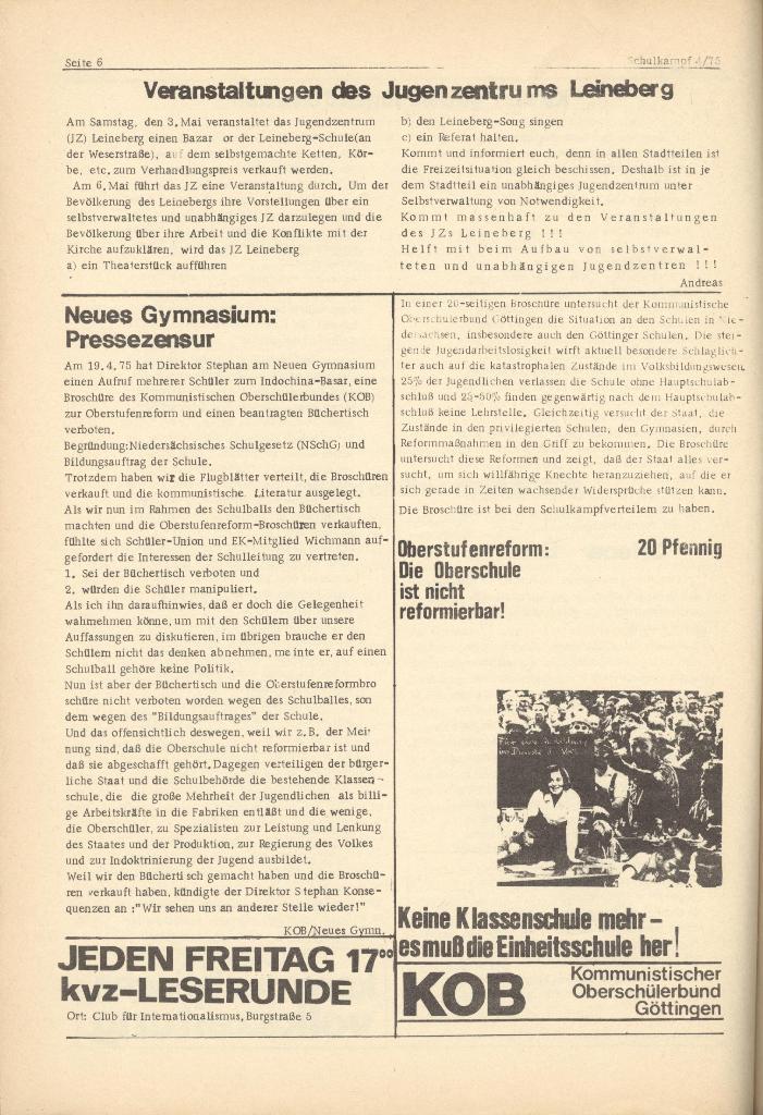 Organ des KOB Göttingen, Nr. 4, 1975, Seite 6