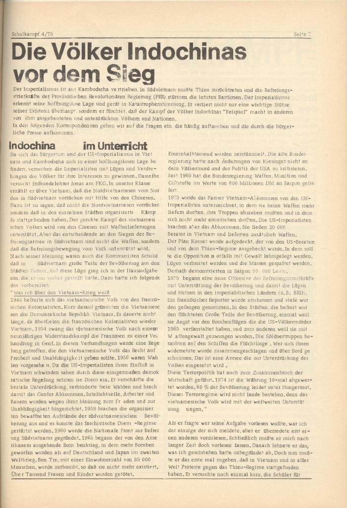 Organ des KOB Göttingen, Nr. 4, 1975, Seite 7