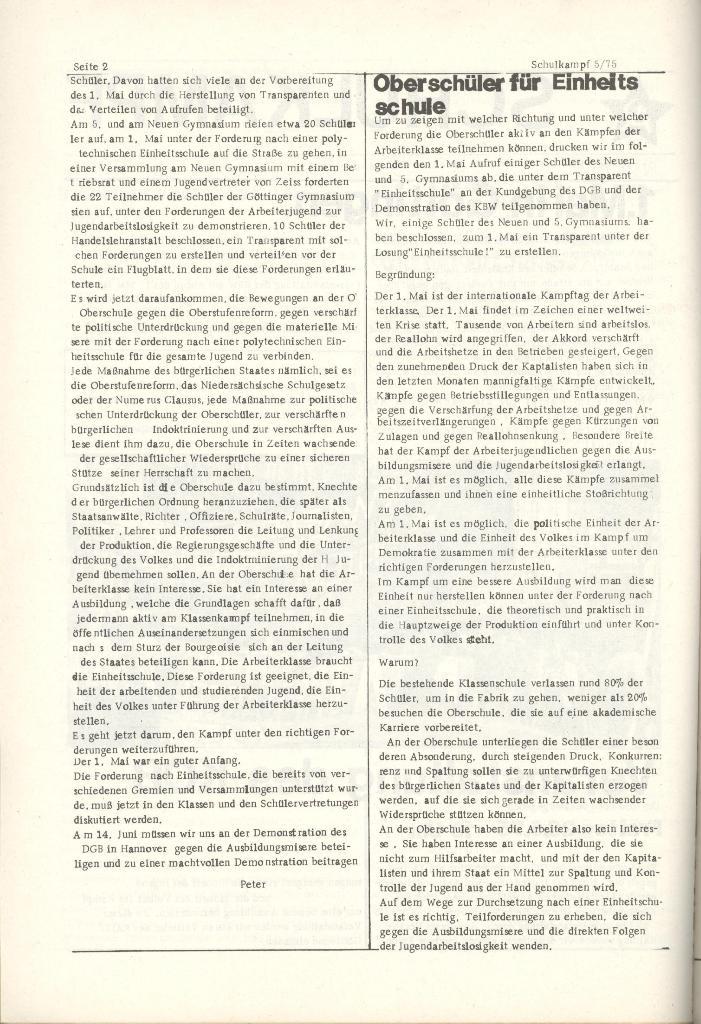 Organ des KOB Göttingen, Nr. 5, 1975, Seite 2