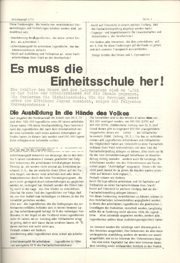 Organ des KOB Göttingen, Nr. 5, 1975, Seite 3