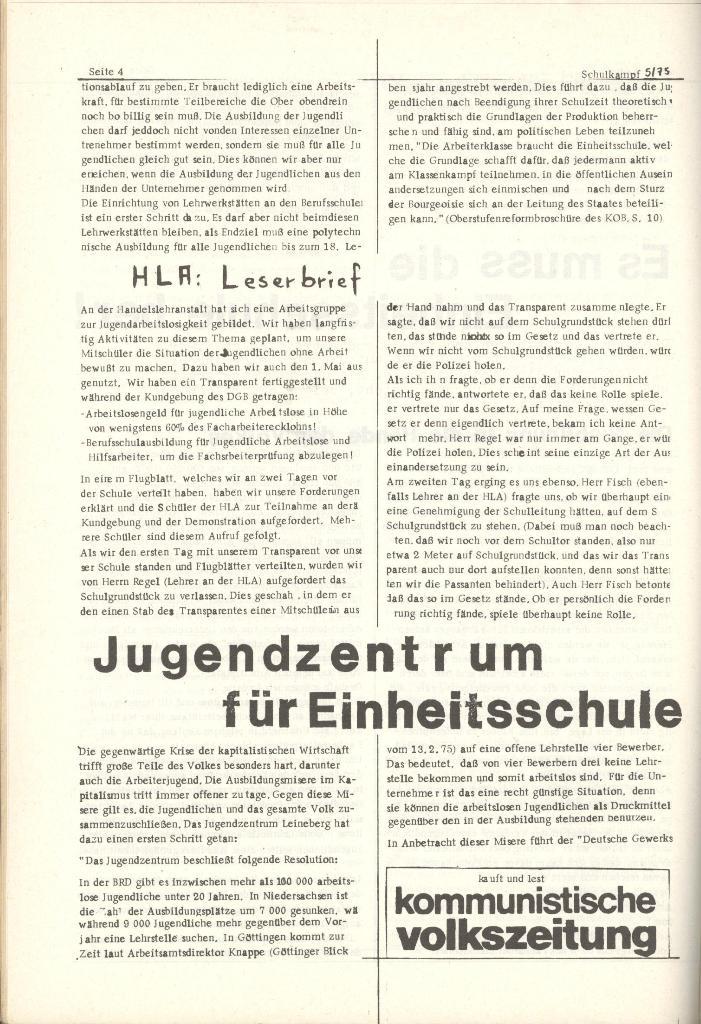 Organ des KOB Göttingen, Nr. 5, 1975, Seite 4