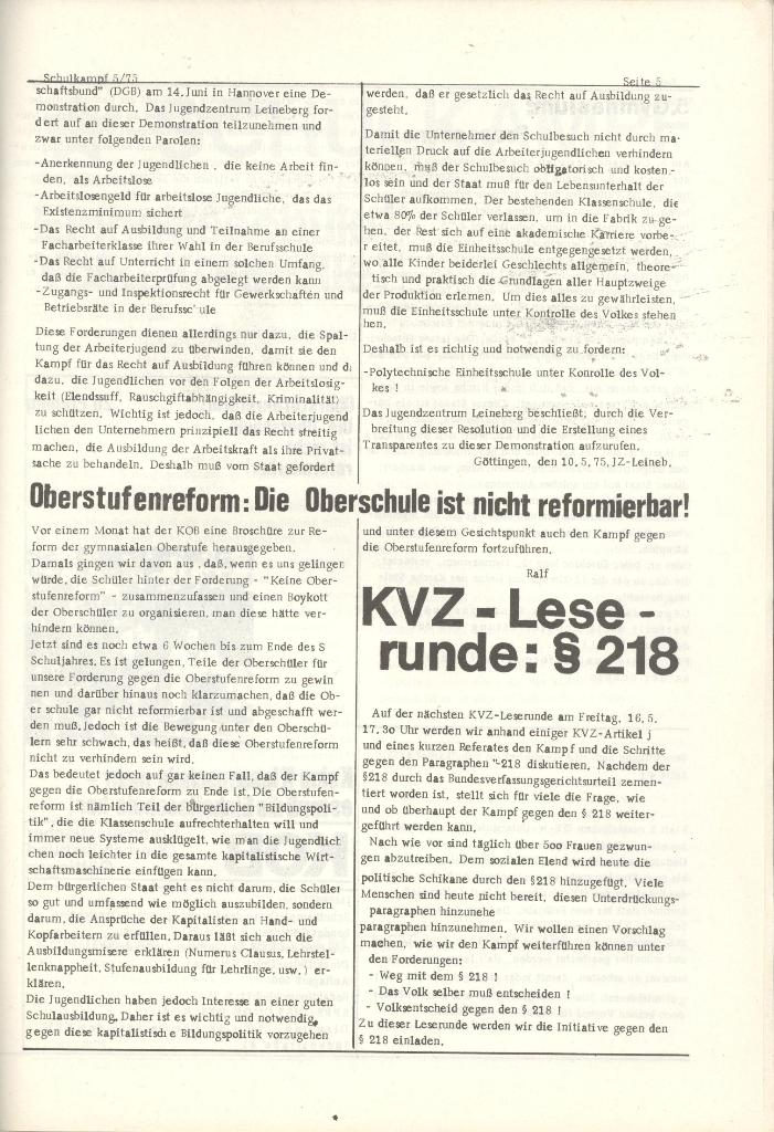 Organ des KOB Göttingen, Nr. 5, 1975, Seite 5