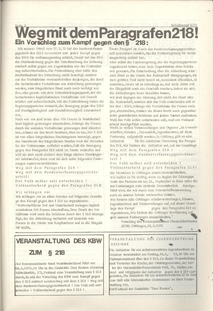 Organ des KOB Göttingen, Nr. 6, 1975, Seite 3