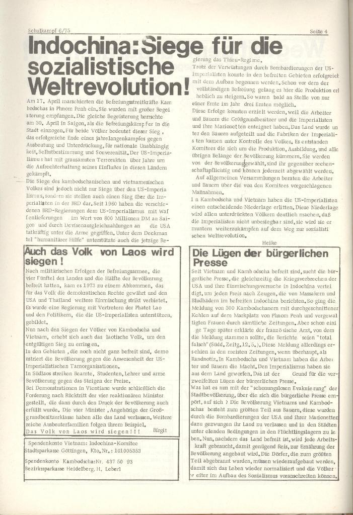 Organ des KOB Göttingen, Nr. 6, 1975, Seite 4