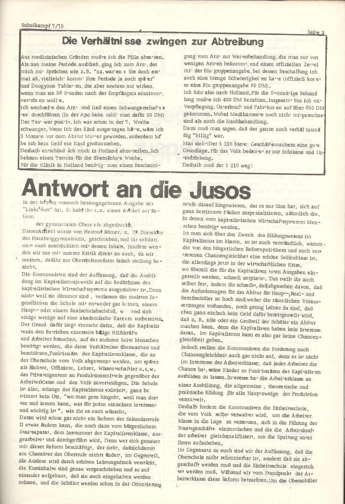 Organ des KOB Göttingen, Nr. 7, 1975, Seite 3