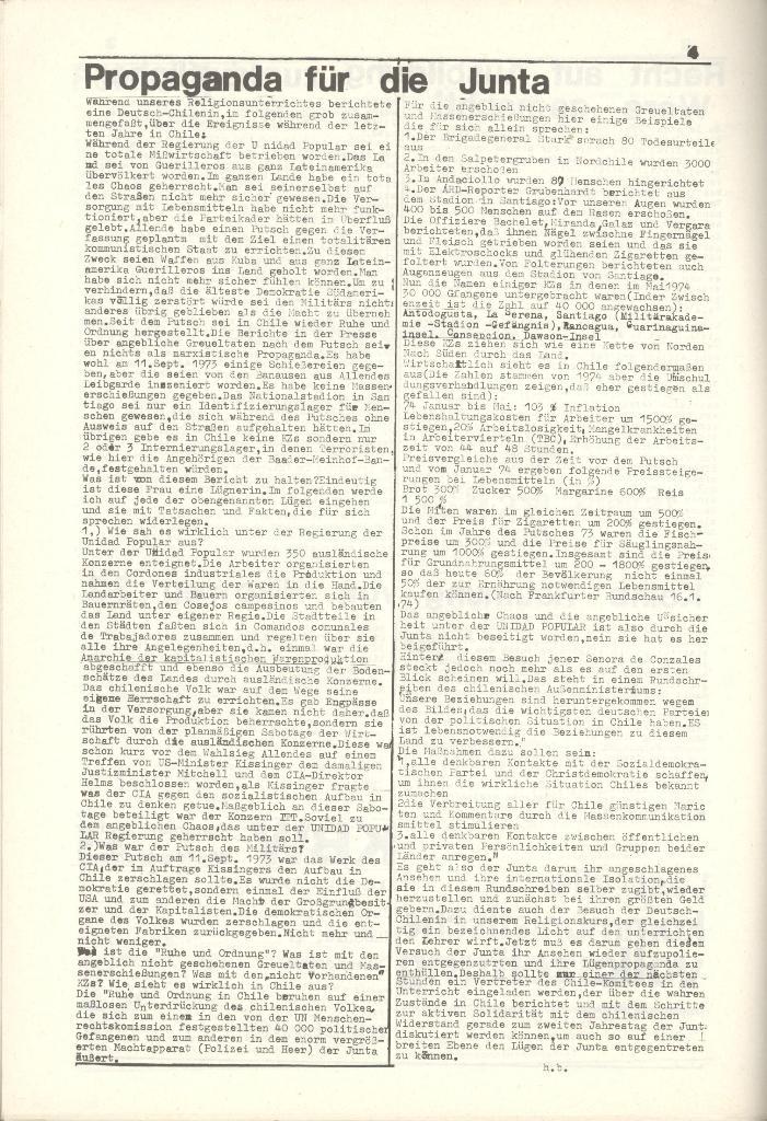 Organ des KOB Göttingen, Nr. 7a, 1975, Seite 4