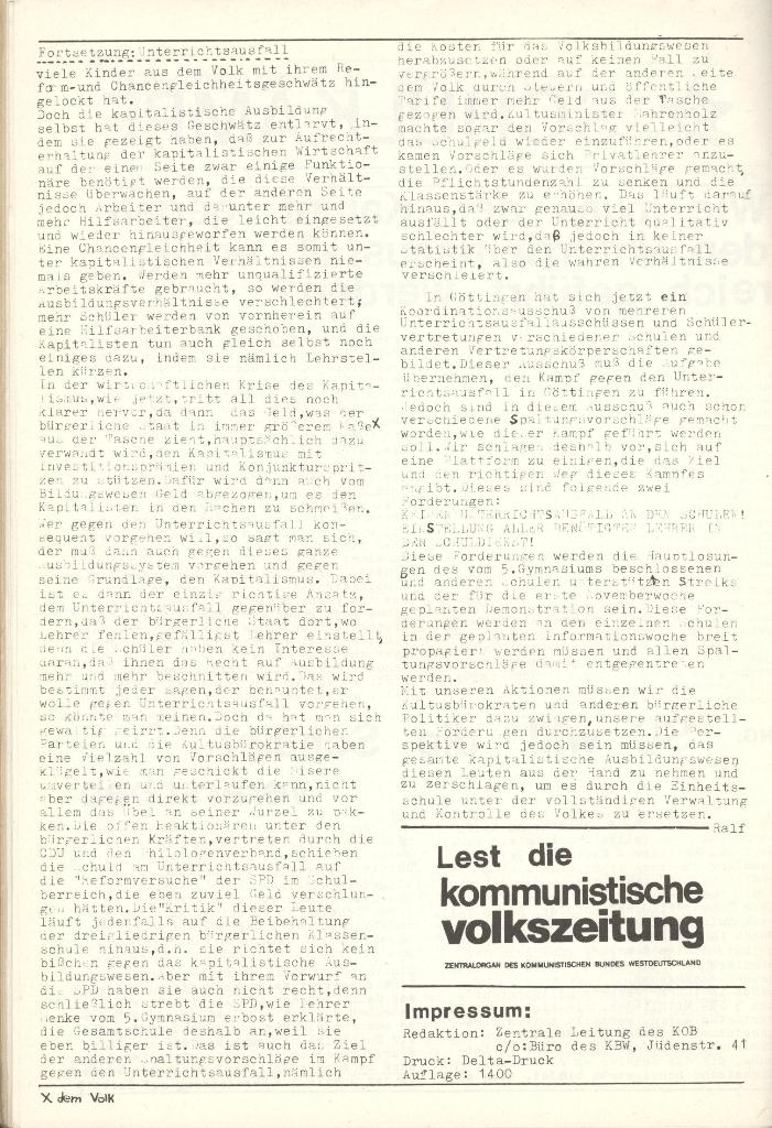 Organ des KOB Göttingen, Nr. 8, 1975, Seite 2