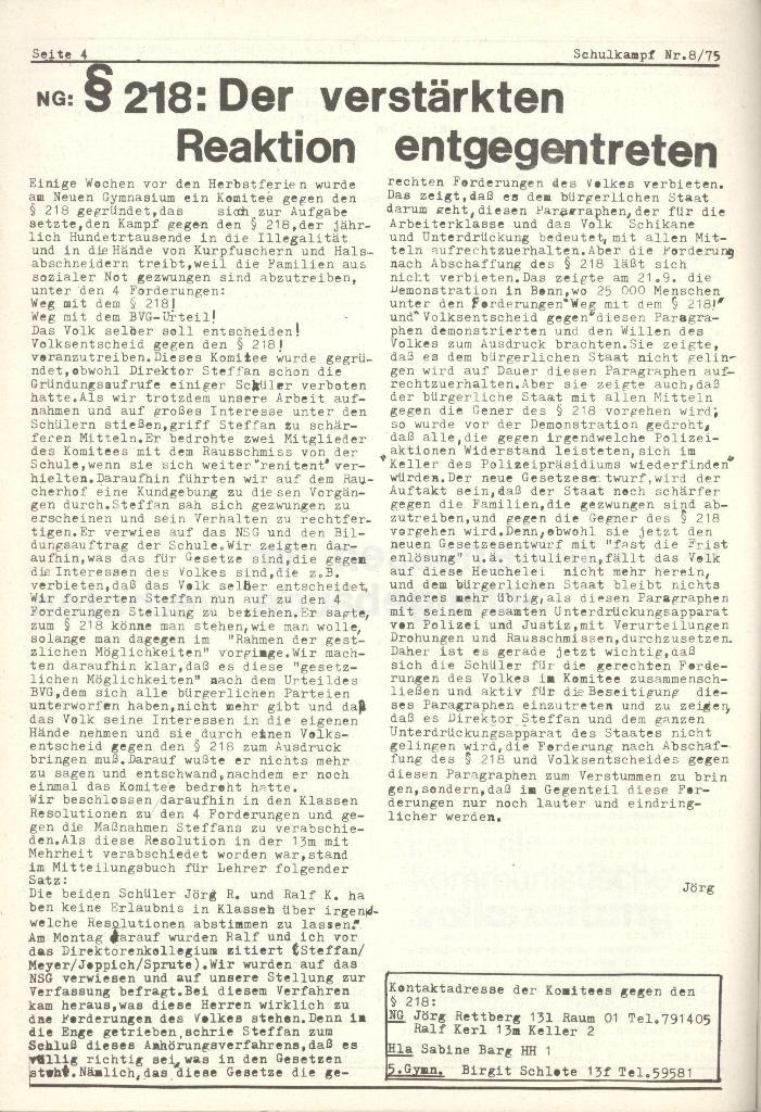 Organ des KOB Göttingen, Nr. 8, 1975, Seite 4