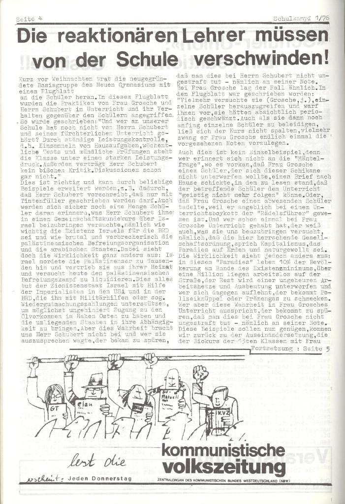 Organ des KOB Göttingen, Nr. 1, 1976, Seite 2