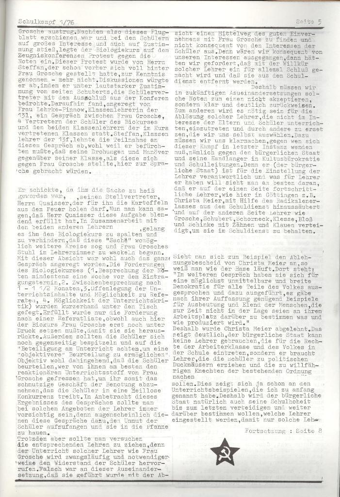 Organ des KOB Göttingen, Nr. 1, 1976, Seite 3