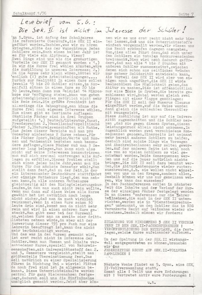 Organ des KOB Göttingen, Nr. 1, 1976, Seite 5