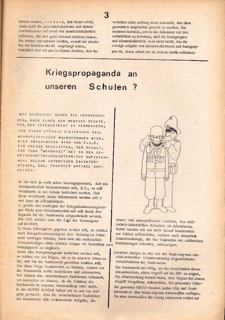 Rote Schule _ Organ des SSG, Nr. 1, 12.12.1971, Seite 3
