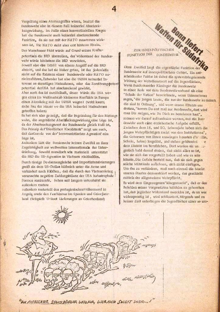 Rote Schule _ Organ des SSG, Nr. 1, 12.12.1971, Seite 4