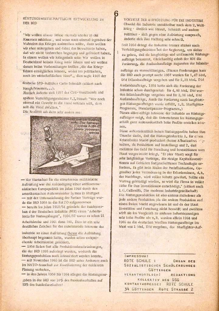 Rote Schule _ Organ des SSG, Nr. 1, 12.12.1971, Seite 6