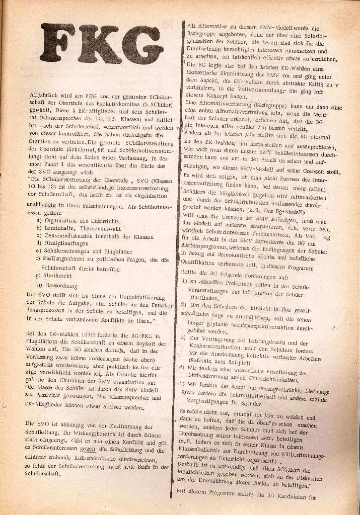 Rote Schule _ Organ des SSG, Nr. 1, 12.12.1971, Seite 9