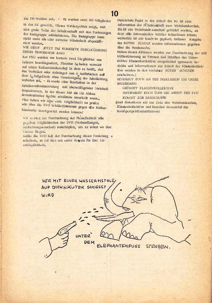 Rote Schule _ Organ des SSG, Nr. 1, 12.12.1971, Seite 10