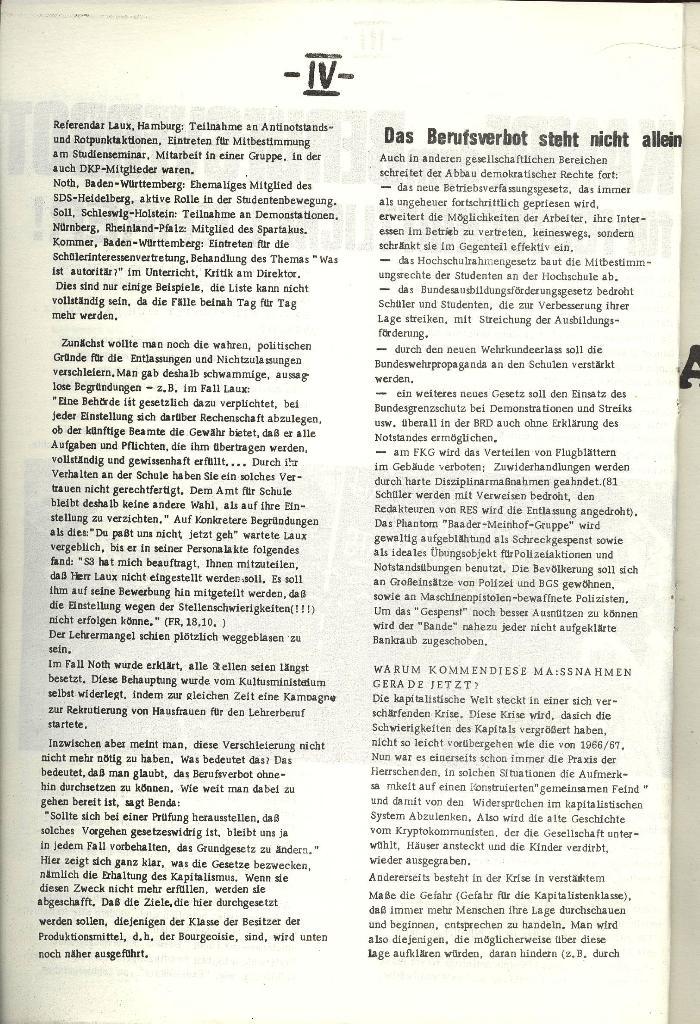 Schulkampf _ Organ der KSF, Göttingen, Nr. 1 [1972], Seite 4